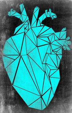 Heart Art Print by Cpbel Herz Tattoo, Human Body Parts, Anatomical Heart, Human Heart, Anatomy Art, Diamond Art, Cubism, Sacred Heart, Heart Art
