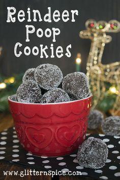 Reindeer Poop Cookies Recipe - Includes Free Printable Gift Tags .