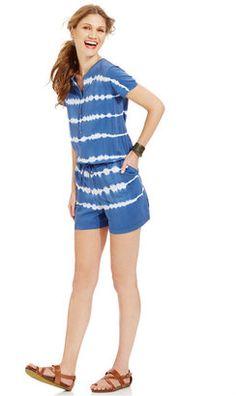 a997e1fcff5f American Living Tie-Dye Romper Designer Jumpsuits