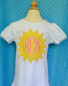 Personalized Sunshine Monogram Patch Applique by PixieStitchLLC, $25.00