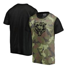 Men s Chicago Bears NFL Pro Line by Fanatics Branded Camo Blast Sublimated T -Shirt 40e3ee536