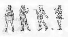 Fabrizio Lorito: Sketching girls - character design