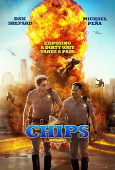 CHiPs Directed by Dax Shepard - starring Michael Peña, Dax Shepard et al, presnted by Box Office Films - film and movie box office details with weekly chart and lifetime grosses. Vote films up or down and leave your comments. Dax Shepard, Good Comedy Movies, Movie Info, Chips, Movies To Watch Online, Watch Movies, English Movies, Full Movies Download, New Poster