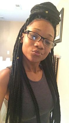 First time box braids and loving it!!!
