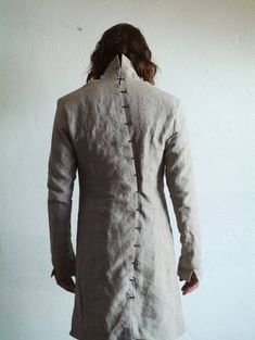 Chain Men Fashion Obscur Obscur Lenin Scholiosis Spine Chain Jacket Size S - Yohji Yamamoto, Dark Fashion, Mens Fashion, Post Apocalyptic Fashion, Cyberpunk Fashion, Magnolia Pearl, Future Fashion, Cool Outfits, Winter Outfits