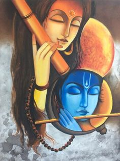 50+ best ideas painting abstract ideas colour Lord Shiva Painting, Ganesha Painting, Budha Painting, Indian Art Paintings, Modern Art Paintings, Oil Paintings, Krishna Art, Krishna Images, Lord Krishna