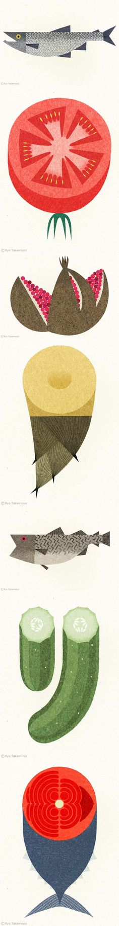 Ryo Takemasa - Gorgeous colours and simple shapes.