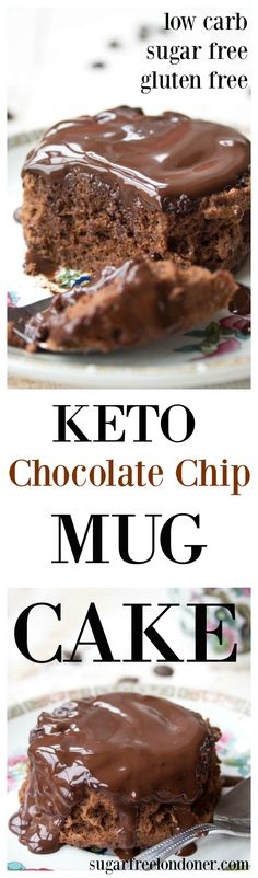 A moist and chocolatey keto mug cake made with coconut flour. Enjoy this cake straight out of the mug or transfer onto a plate and smother it with sugar free chocolate sauce! Low carb and gluten free. #lowcarb #glutenfree #sugarfree #diabetic #chocolate #mugcake #microwave #LCHF #keto #healthyrecipe