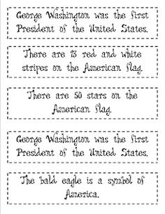 President's Day Fact & Opinion sort