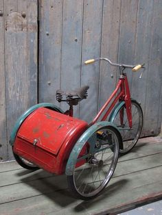 Remember the trike with the bread bin boot!!