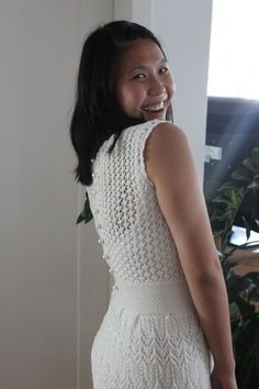 A-freakin'-mazing knitted wedding dress    Ashley now what do you think of this!!!!!