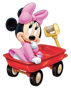 Baby Minnie in Wagon