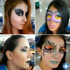 Combinar técnicas es una excelente forma de C R E A R, en #lacole te enseñamos. #aprendeconlosmejores #maquillajeprofesional
