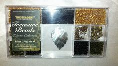 Love bead craft & jewelry? RARE TREASURE BEADS BEADING MIX COLLECTION BEADERY ART CRAFTS ABALONE SHELL PENDANT BLACK PLASTIC GOLD METAL ASSORTED ARTS CREATIVE PROJECTS - on eBay! $2.98