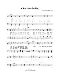 A New Name in Glory - Hymnary.org
