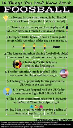 Crazy foosball facts…