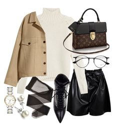 """Untitled #21410"" by florencia95 ❤ liked on Polyvore featuring Boohoo, IRO, Daya, H&M, Ray-Ban and Burberry"