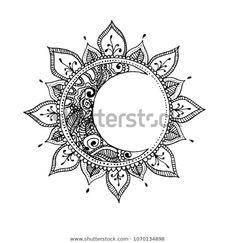 Hand Drawn Sun Moon Zentangle Sun Stock Vector (Royalty Free) 1070134898 Hand Drawn Sun Moon Zentangle Sun Stock Vector (Royalty Free) Hand drawn sun and moon. Zentangle sun and moon. Vector illustration made. Luna Tattoo, Moon Sun Tattoo, Tattoo Bein, Sun And Moon Tattos, Dotwork Tattoo Mandala, Mandala Tattoo Design, Mandala Drawing, Mandala Tattoo Back, Sun Drawing