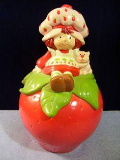 Vintage Strawberry Shortcake Ceramic Bank #StrawberryShortcake