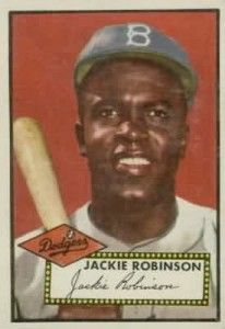 1952 topps jackie robinson baseball card