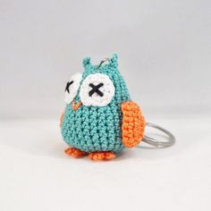 Love this crocheted mini owl keyring in real and orange.  Lots of other colours - and sizes and animals - to choose from. Check out my Etsy shop (link in my profile). #owl #owls #owlart #owlsome #owlobsessed #owlsofinstagram #owlstagram #etsy #etsyhandmade #keyring #keychain #bagcharm #accessories #accessory #amigurumi #cute #kawaii #crochet #lottasark #animalsofinstagram by lottas_ark