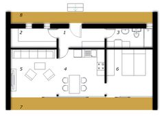 Ground floor Prefabricated house ek 014