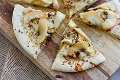 Apple Cheddar Pizza With Caramelized Onions