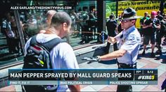 Mall cop ignores racist harassing Seattle protesters and pepper sprays black bystander instead By David Edwards Thursday, August 14, 2014 8:...