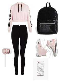 """""""Casual School Day Outfit#17"""" by seragart on Polyvore featuring Lipsy, Forever 21, Madewell, The Casery and Beats by Dr. Dre"""