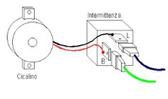 Risultati immagini per relè frecce auto schema schema elettrico ...