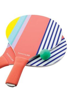 Sunnylife Beach Paddles Havana - Tag your opponent and let the games begin with the Sunnylife Beach Paddles. Sunnylife, Pool Floats, Beach Umbrella, Camping Gifts, Summer Essentials, Havana, Paddles, Picnic, Let It Be