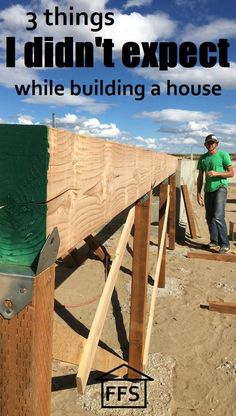 3 things I didn't expect while building a house. How to build your own house
