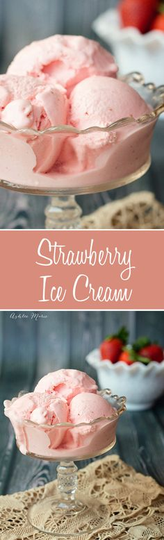 The best strawberry ice cream you will ever have.  Creamy, smooth with AMAZING flavor, everyones favorite recipe