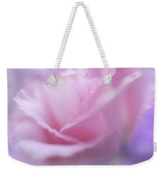 """Le Baiser Rose Weekender Tote Bag (24"""" x 16"""") by Jenny Rainbow.  The tote bag is machine washable and includes cotton rope handle for easy carrying on your shoulder.  All totes are available for worldwide shipping and include a money-back guarantee."""