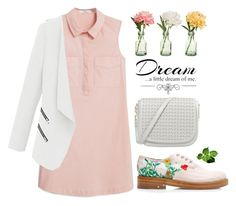 """""""dream a little dream"""" by collagette ❤ liked on Polyvore featuring Laurence Dacade, MANGO, Love Quotes Scarves, PEONY, Oxfords, creepers and brogues"""