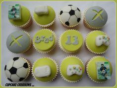 Xbox fifa themed cupcakes