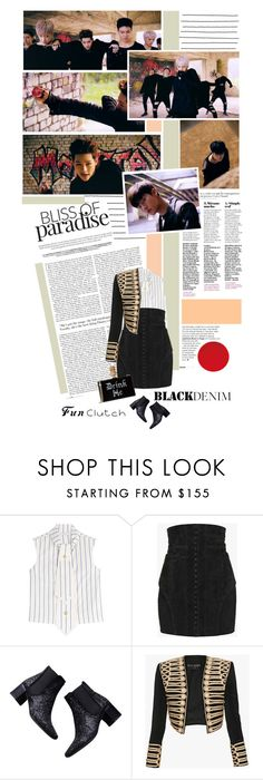 """Monsta X 'Stuck'"" by chomiczynka ❤ liked on Polyvore featuring J.W. Anderson, Balmain and Zara"