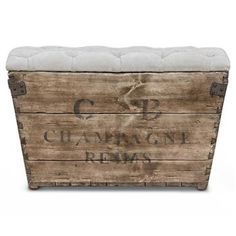 Reims French Country Aged Wood Grey Storage Crate Ottoman (again... really nice but holy crap mucho mula!! )