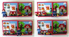 Quiet Book Personalized Felt Book Activity Busy Book 21x21 cm 4-10 Pages Toddler Montessori Learning Felt Book Educational Child Toy Girl Quiet book VeryToy is an interactive book with fine motor skills challenges, it is recommended for children from 2 years old. Felt book / bag is carefully