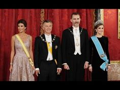 Cena de Gala Reina Letizia y Rey Felipe VI con Presidente Argentina Maur...