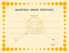 Free basketball certificate of participation basketball free basketball certificate of participation basketball participation certificate pinterest certificate template and free yelopaper Gallery