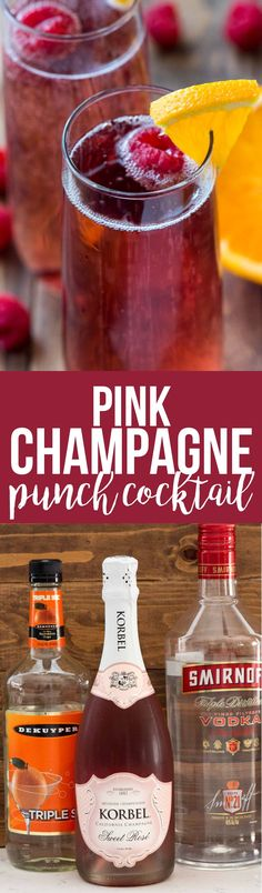 8a630a505e Pink Champagne Punch Cocktail is the perfect drink recipe for any occasion.  Just three ingredients and its pretty enough for a birthday
