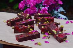 Raspberry Pistachio Fudge | Elsa's Wholesome Life- a whole foods recipe blog