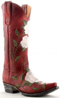 with just the right amount of black and hints of sparkling white. and fishnets of course! Womens Old Gringo Patsy Boots Red .my next pair Red Cowgirl Boots, Cowgirl Chic, Red Boots, Cowgirl Style, Western Boots, Wedding Cowboy Boots, Heeled Boots, Shoe Boots, Old Gringo Boots