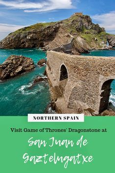 On the Basque coast sits one of Spain's the most photographed spots -- the small island of San Juan de Gaztelugatxe. Attached to the mainland by a short causeway, this rocky isle is topped by a hermitage. Game of Thrones fans will recognise the setting as Dragonstone which was featured in season 7 and 8 of the series. Take the hike across the bridge for spectacular views. #gaztelugatxe #basque region #northernspain #got #gameofthrones #gotfilminglocations #dragonstone