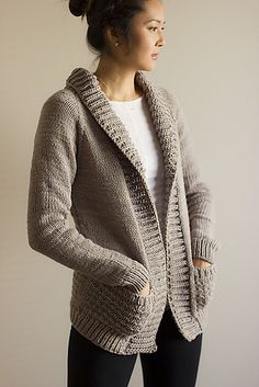 Chunky cardigan knitting pattern - $6.50