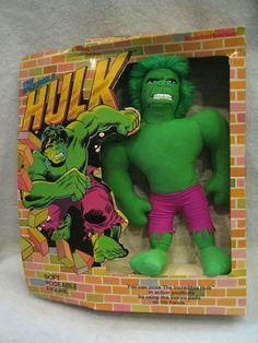 1978 Vintage Knickerbocker Incredible Hulk Plush Figure Mint in Box Marvel Toy   eBay