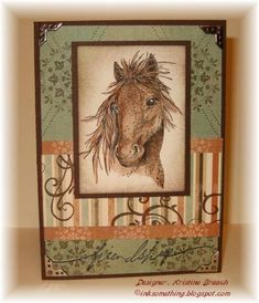 Horse Motifs by KristineB - Cards and Paper Crafts at Splitcoaststampers