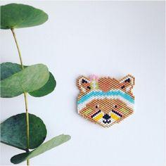 Tissage brick stitch raton laveur de Rose Moustache