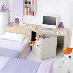 storage between bed and wall - - Yahoo Image Search Results